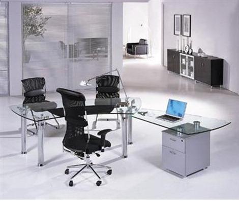 Escritorio para oficina moderna for Muebles modernos para oficinas pequenas