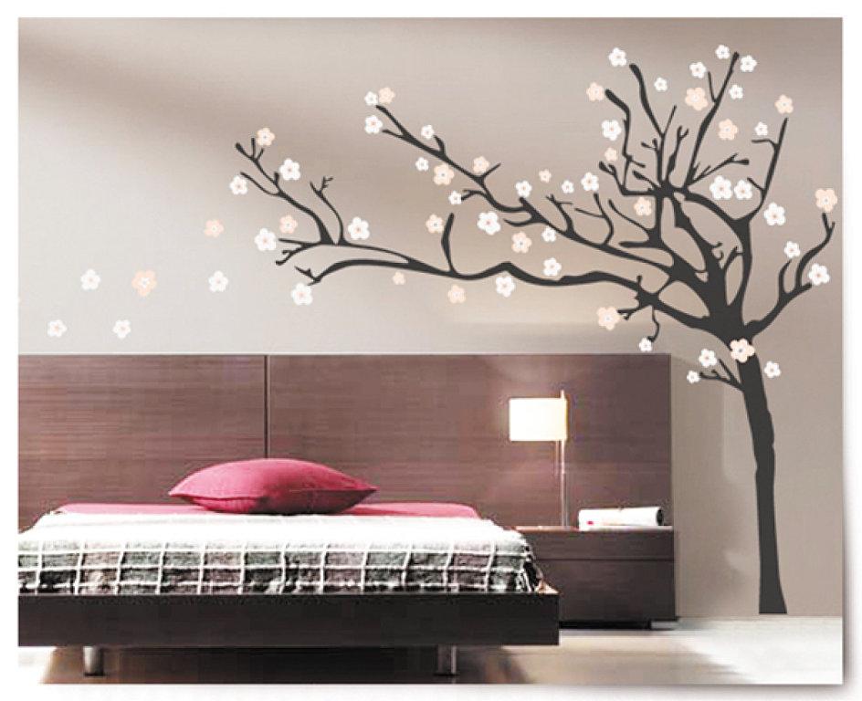 Los vinilos en la decoraci n decorando espacios for Decoracion de la pared para el dormitorio