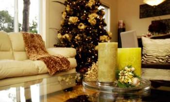 Toques navideños en el interior de la vivienda