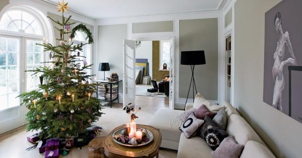 Toques navideños en el interior de la vivienda.