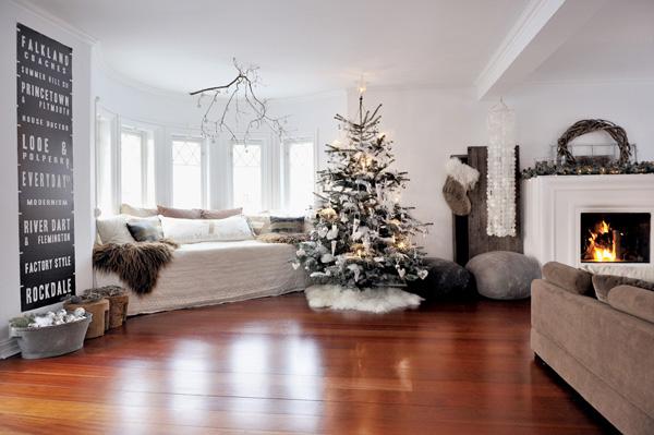 Toques navideños en el interior de la vivienda..