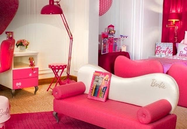 Una sala temática Barbie para las niñas