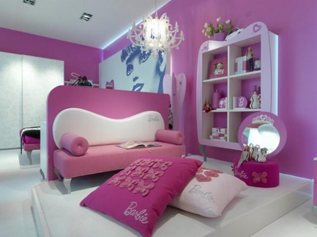 Una sala tematica Barbie para las niñas