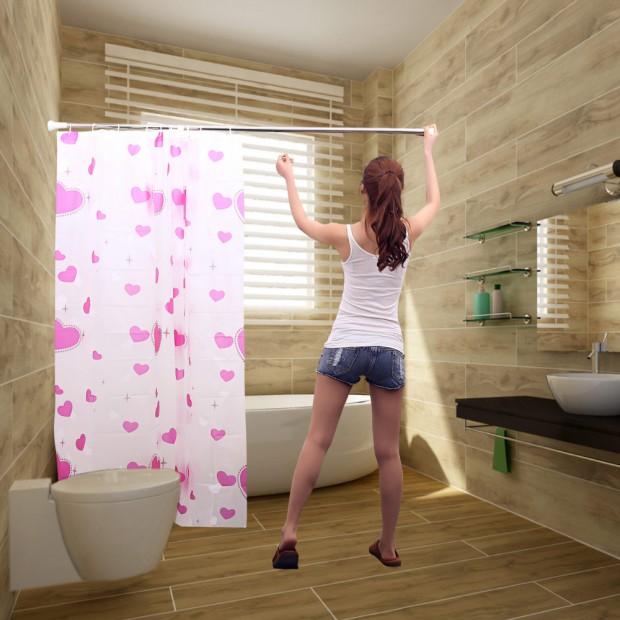 Barras de cortinas de baño,