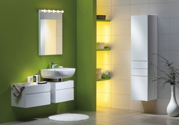 Color en el cuarto de baño-