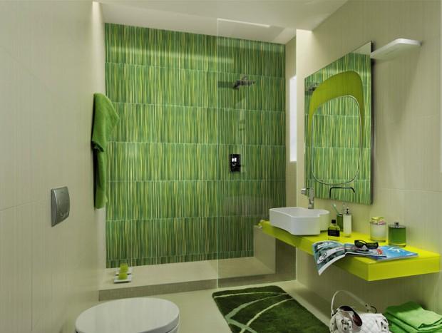 Color en el cuarto de baño,