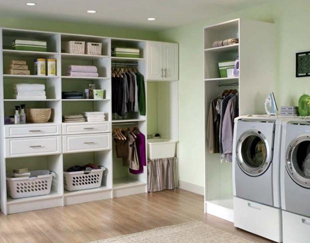 Decoración en el cuarto de lavado