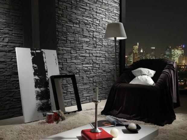 Ideas para decorar paredes imitando la piedra..