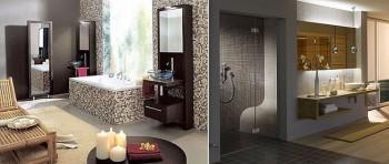 Materiales para recubrir las paredes del baño.