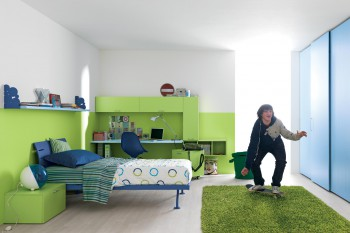 Rincón de estudio en dormitorios