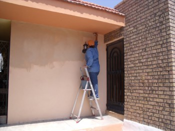 Trucos para pintar la fachada