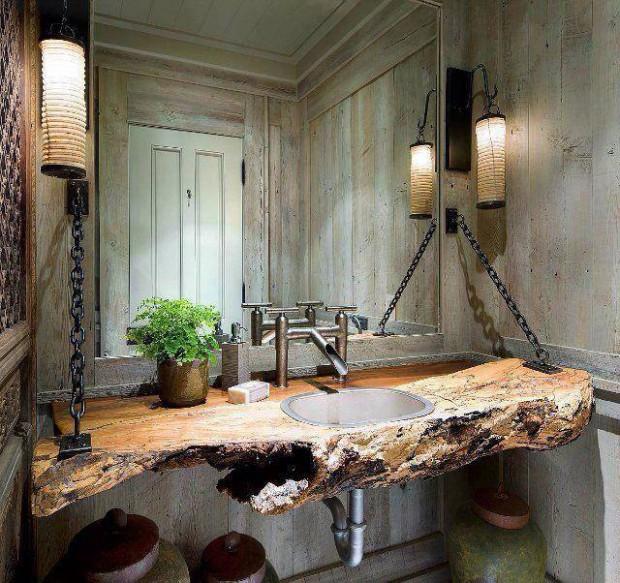 Un baño bastante original