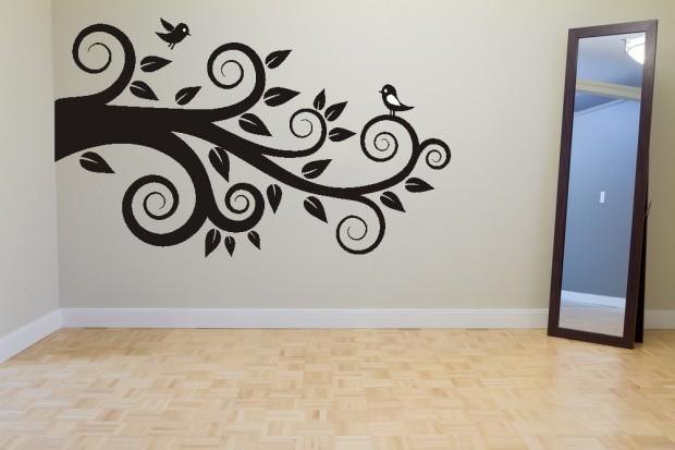 Vinilos decorativos en paredes.