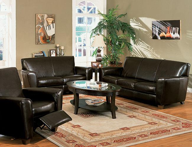 Decorando con muebles de cuero for Precio de salas modernas