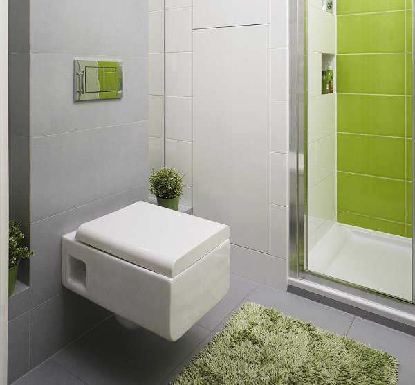 El color en baños de poco metros.