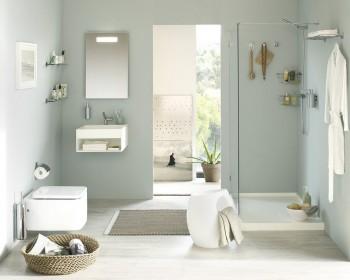 El color en baños pequeño.