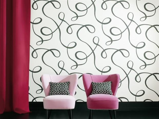 El papel tapiz en la decoración de paredes.