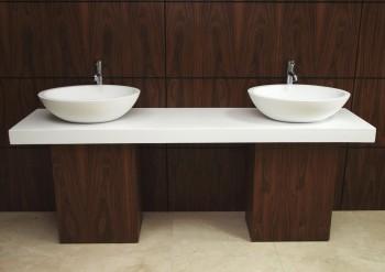 El uso de las encimeras en el baño.