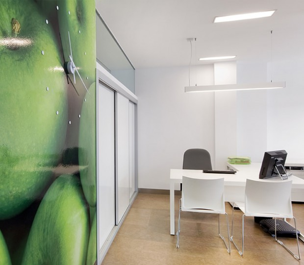 Iluminación en oficinas.
