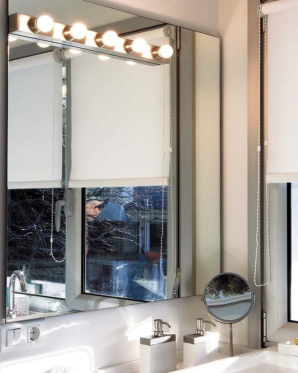 Iluminaciones apropiadas para el cuarto de baño.