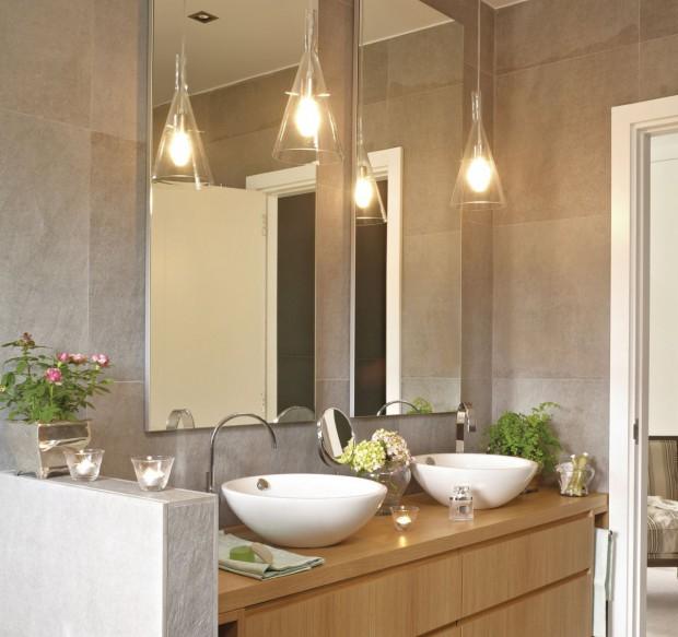 Iluminarias para el baño.