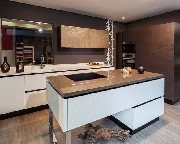 La buena utilización de los muebles en la cocina.