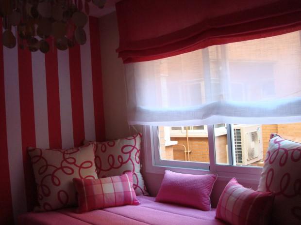 Las cortinas, elementos de gran utilización en la decoración del hogar.