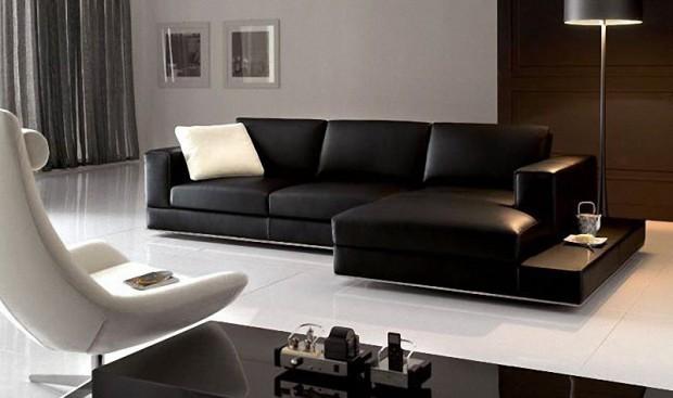 Muebles oscuros en la decoración.