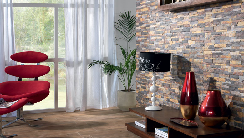 Tipos de azulejos para decorar for Piedra para decorar paredes interiores