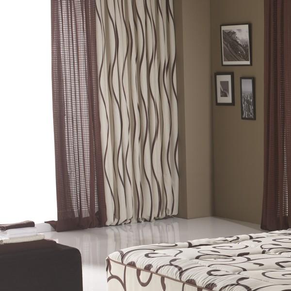 Tejidos en cortinas.