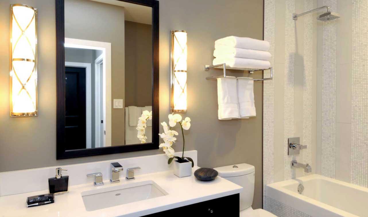 Trucos de iluminación en el baño.