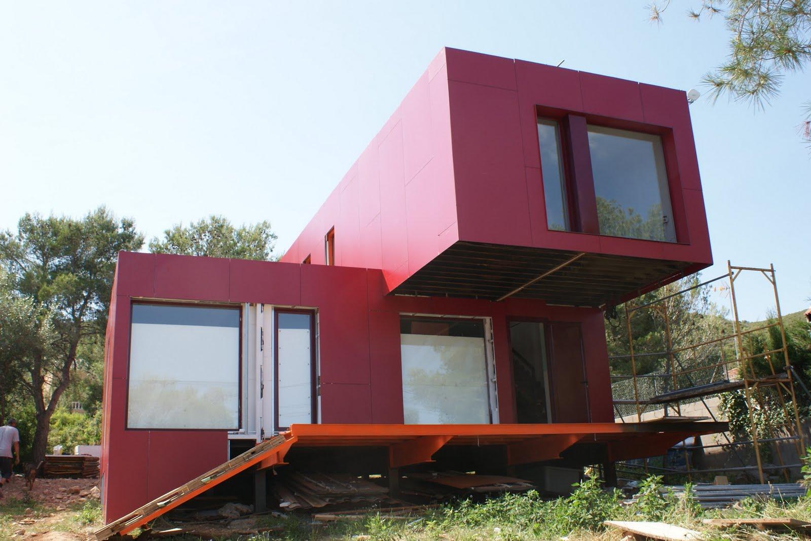 Contenedores mar timos nueva forma de construir - Como hacer una casa con un contenedor maritimo ...