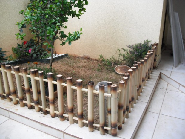 cercas de bambú.