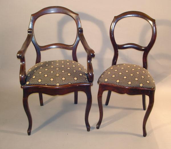 sillas de estilo victoriano