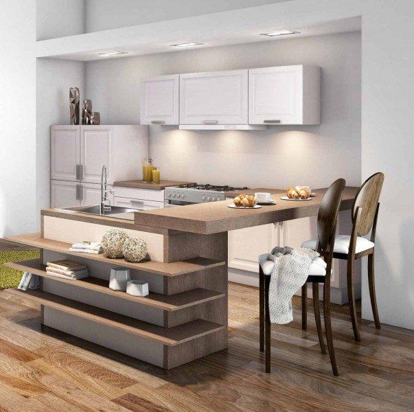 Aportando elegancia en las cocinas con el uso de gabinetes decorados.