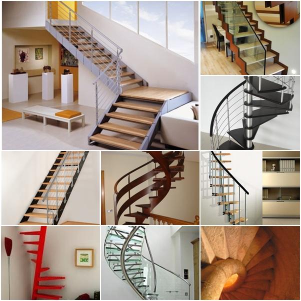 Dise os de escaleras que ahorran espacio for Escalera de hormigon con descanso