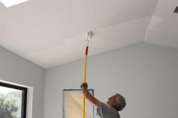 Pintando paredes con humedad.