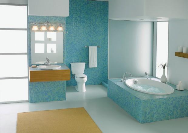 Que tipo de piso utilizar en el baño.