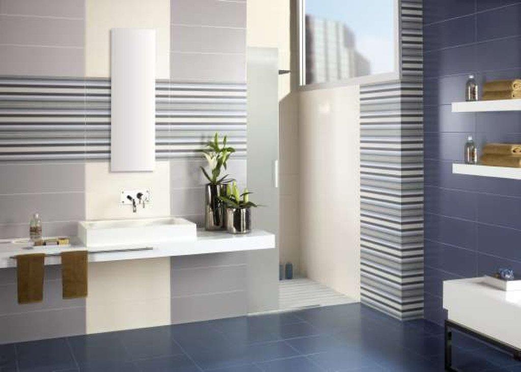 Ba os modernos estilos iluminaci n y mobiliarios - Baldosas para banos modernos ...