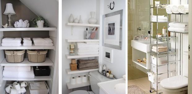 Baños mucho mas ordenados con el uso de muebles de almacenaje.