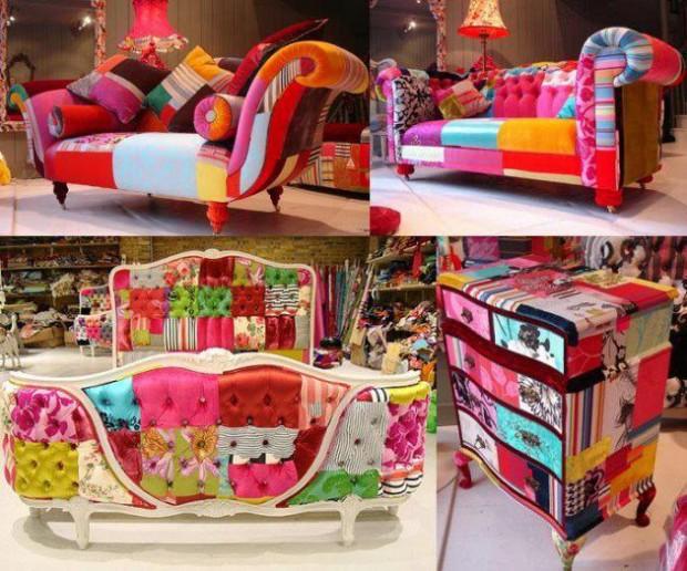 El uso de telas en la decoración del hogar.