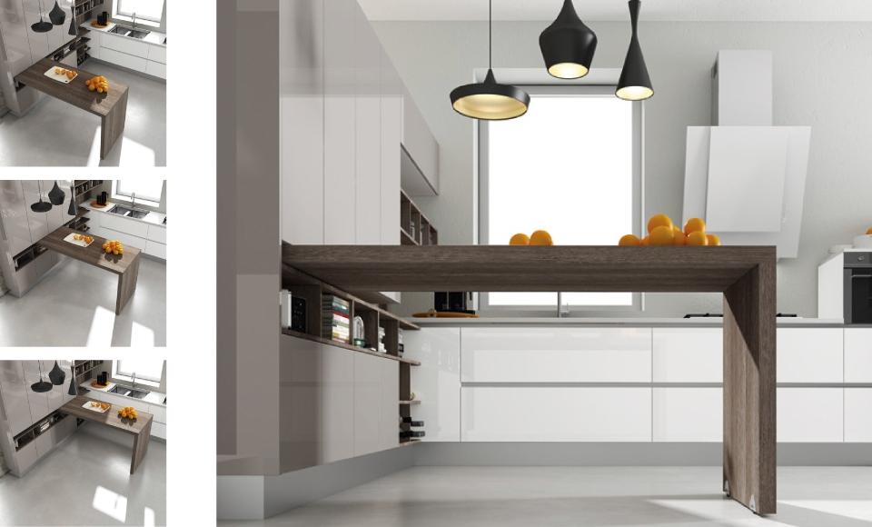 Barras para cocina estilos e instalaci n for Mejor material para encimeras de cocina