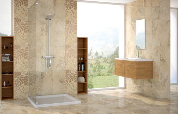 Azulejos para ba os modernos estilos e ideas - Combinacion de azulejos para banos ...