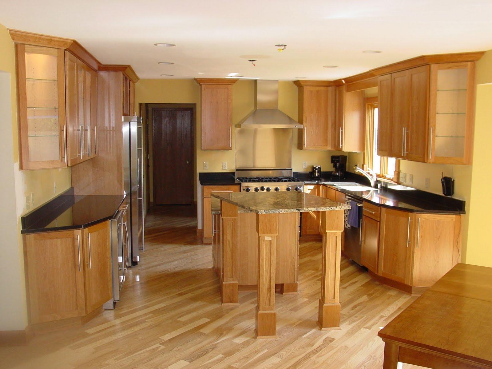 Cocinas de madera for Cocinas modernas color madera