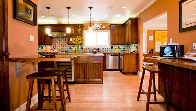 Colores para cocinas c mo utilizarlos for Pintura a color cocina abierta