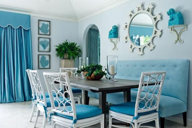 Decoración de verano en color azul