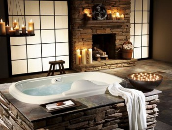 El uso de las piedras naturales en el baño.