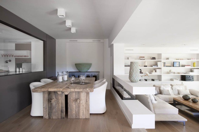 Ideas para combinar blanco y madera en la decoraci n for Archi interni moderni