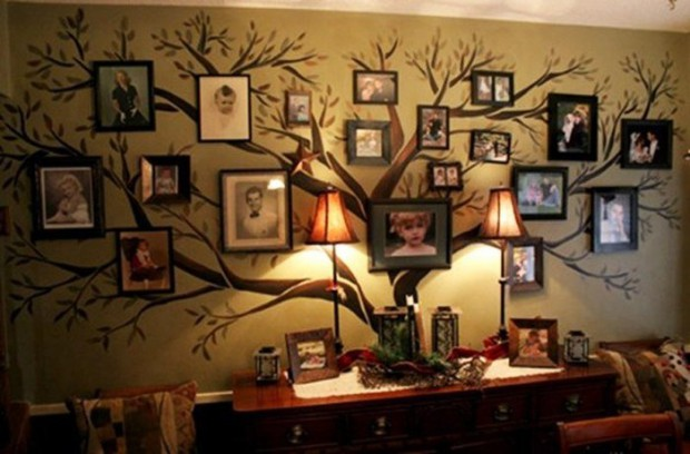 Ideas para decorar pared con arbol genealogico 2
