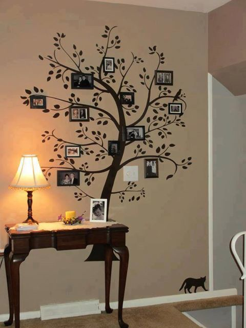 Ideas para decorar pared con rbol geneal gico - Ideas para decorar paredes con fotos ...